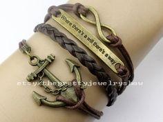 Infinity&Anchor Bracelet Motto Bracelet by ThePrettyJewelryShow, $4.29