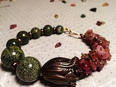 Собираем браслет «Каменный цветок». Идея использования шапочки для бусины «бутон» | Ярмарка Мастеров - ручная работа, handmade