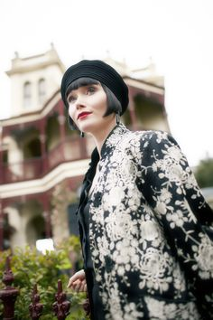 Essie Davis photographed for Miss Fisher's Murder Mysteries