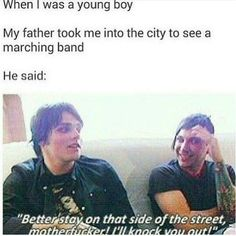 Excuse the language, but this is so funny. Gerard Way