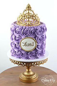 Princess rosette tiara cake cakes                                                                                                                                                      More