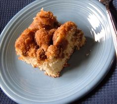 Bisquick Coffee Cake from Food.com:   								This bisquick coffee cake recipe is one of my favorites. It used to be on the back of the Bisquick box, but they replaced it a few years ago. I'm posting it here not only to share it, but as a backup in case I lose my recipe card :)