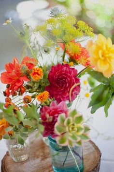 Bright flowers from the Cutting Garden, Photo by Emily Gutman