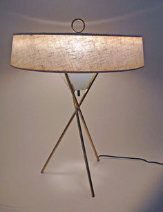 Tripod Table Lamp by Gerald Thurston | From a unique collection of antique and modern table lamps at http://www.1stdibs.com/furniture/lighting/table-lamps/
