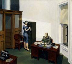Office at Night, 1940, Edward Hopper
