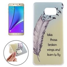 [$0.99] Ultrathin Feather and Words Pattern TPU Protective Case for Samsung Galaxy Note 5 / N920