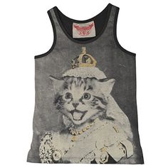 My GOSH, Lily would LOVE this!!  My kitty obsessed girl <3   One Good Thread - Paper Wings - Racer Back Singlet - Queen Kitty, $44.95 (http://www.onegoodthread.com/paper-wings-racer-back-singlet-queen-kitty/)