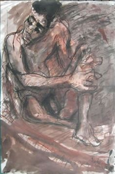 Donald Friend, Australia (1914 - 1989) • Seated Nude c.1985 • Pen and wash • Gift of Dr Barbara van Ernst AM • 2013.007 #DonaldFriend #AustralianArtist Australian Painting, Australian Artists, Pen And Wash, Asian Art, Metal Working, Contemporary Art, Van, Nude, Gallery
