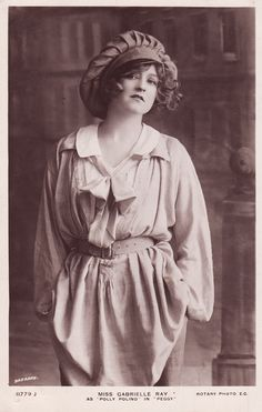 Miss Gabrielle Ray,  Edwardian stage beauty.  1900s