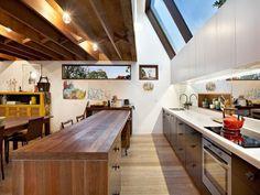 skylights above kitchen
