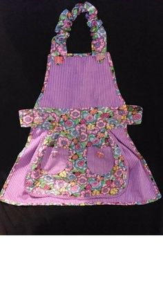 Purple Butterflies Toddler Apron by ToptoToesSewing on Etsy, $20.00
