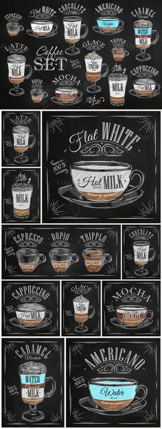 So want!!! Set Coffee by Anna on Creative Market: