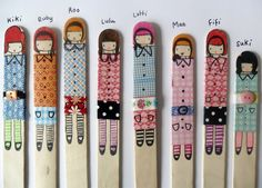 Great blog for crafty ideas - LOVE these popstick dollies :)