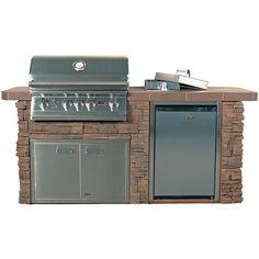 Lion Sensational Q BBQ Grill Island | WoodlandDirect.com: Outdoor, BBQ Grills, Islands & Kitchens, Straight Outdoor Kitchens & Islands