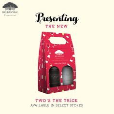 Launching the fabulous festive pack - Two's the Trick. You can pick any of your 2 favourite wines & make it your own