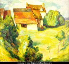 Farmhouse, 1914 - Diego Rivera - www.diego-rivera-foundation.org