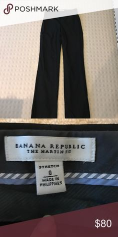 Banana Republic Light weight wool pant- Like new POCKETS STILL SEALED! The Logan fit features a straight-cut waistband at a lower waist position than the Original Martin, making it a truly modern silhouette. Our lightweight wool is naturally breathable and wrinkle resistant, and has excellent stretch and recovery. Zip fly with hook-and-bar closure. Belt loops. Front off-seam pockets. Rear welt pockets, STILL SEALED! Perfect condition. Never worn or washed Banana Republic Pants