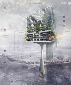 Exploring Artic: Multifuncional Complex in Dikson Harbor by Nikolay Zaytsev and Elizaveta Lopatina - Skycrapers from eVolo's Annual High-Rise Competition