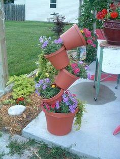 Tipsy garden planters