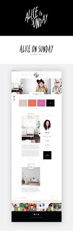 ALICE ON SUNDAY WEBSITE DESIGN BY STUDIO 9 CO