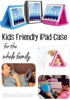 Kids friendly iPad Case for the whole family - great if you want the little ones to watch something on iPad from distance.