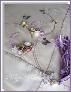 Nigar Hikmet Ribbon embroidery