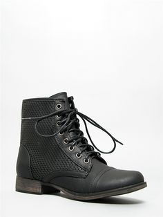 Breckelle's GEORGIA-45 Perforated Lace Up Boot -