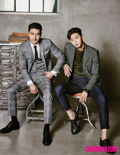 "The Leads Of ""She Was Pretty"" Take On Cosmopolitan Korea's October 2015 Issue // couch-kimchi.com"