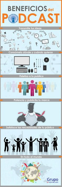 Beneficios del Podcast #infografia #infographic #marketing