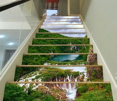 Stair Risers Murals & Decals - U. Delivery Page 16 Stairway Art, 3d Home Design, Design Ideas, Marble Stairs, Decoration Photo, Door Murals, Wall Mural, Wall Art, Kids Room Murals