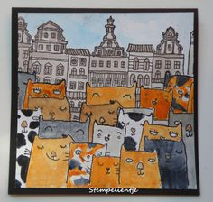 Stempelientje: Spay and Neuter! Rubber Stamping, Buildings, Houses, Kit, Cards, Inspiration, Vintage, Biblical Inspiration, Maps