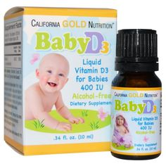 California Gold Nutrition, Baby Vitamin D3. Vitamin D supplementation for infants is recommended because breastfed infants generally do not obtain adequate Vitamin D from other sources. Newborn Care Tips Beauty Products Kids Tutorials Projects Simple Baby Toys Child Costume Ghost