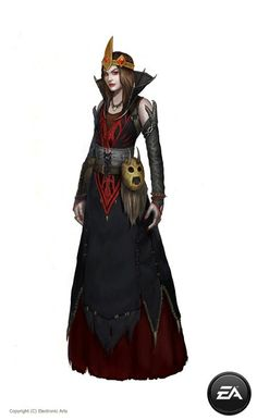 dark sorcerer/wizard female