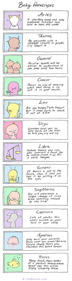 Baby Horoscopes: This is just for fun XD