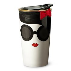 Starbucks Alice Olivia Double Wall Traveler Mug Stace Face 12 fl oz * Check this awesome product by going to the link at the image. (This is an affiliate link) Starbucks Store, Starbucks Tumbler, Chur, Disney Coffee Mugs, Bow Bag, Espresso Drinks, Cute Mugs, Material Girls, Mug Designs