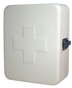 Kikkerland Empty First Aid Box, White