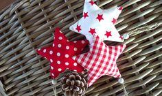 Deko und Accessoires für Weihnachten: 3 weihnachtliche Stoffsterne made by PipifaX via DaWanda.com