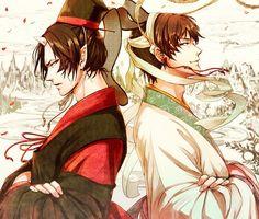 Hoozuki and Hakutaku (Hoozuki no Reitetsu)