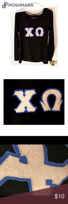 Chi Omega Letter Shirt NEVER WORN, Block letter shirt Tops Tees - Long Sleeve