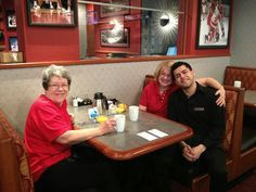 Grandmas and their new best friend — with Sandy Zins, Kathy Lentz and Miguel Cuellar at Badgerland Bar & Grill. In Wisconsin April 12, 2013