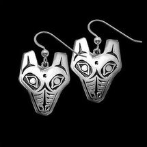 Wolf Tribal Sterling Silver Earrings | Nature Jewelry