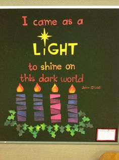 Advent bulletin board.