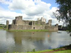 The great castle of Caerphilly in south Wales...