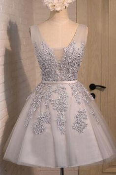 Homecoming dress, short prom dress for teens