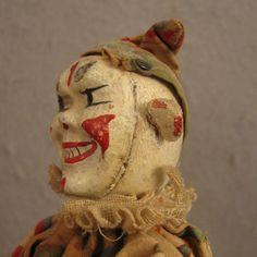 Schoenhut Circus Clown Keller Style IV w/ 2 part Head: Removed Antique Toys, Vintage Toys, Vintage Antiques, Retro Vintage, Old Circus, Circus Clown, Send In The Clowns, Humpty Dumpty, Creepy Dolls