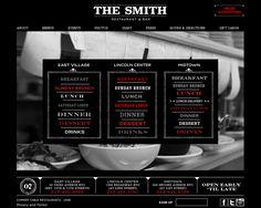 The Smith Restaurant & Bar | Website Design