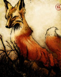 Fox  by Steven Womack : These colors--I want everything I own to be in this set of colors.