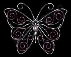 Butterfly (Grand) Rhinestone Iron-on Crystal Bling Hotfix Sparkle Transfer Applique Make Your Own Animal Pretty Shirt DIY! Beaded Embroidery, Embroidery Patterns, Hand Embroidery, Beaded Lace, Rhinestone Art, Rhinestone Transfers, Shirt Diy, Dot Art Painting, Mandala Dots