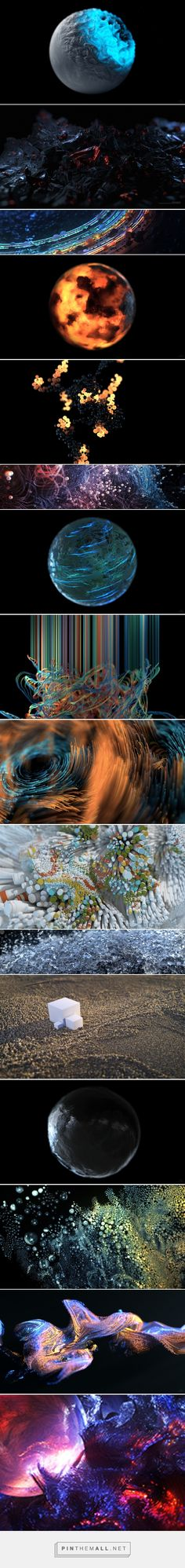 X-Particles & Cycles 4D Artwork I on Behance... - a grouped images picture - Pin Them All