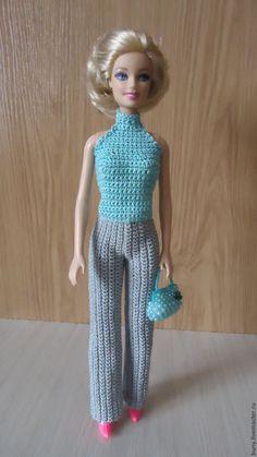 Купить Бирюзовый топ - бирюзовый, одежда для кукол, кукольная одежда, одежда для барби, кукольный наряды